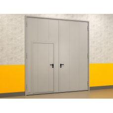 Автоматические гаражные распашные ворота металлические 3000x2000