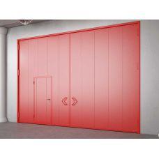 Автоматические гаражные распашные ворота металлические 5000х2500