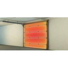Оранжевые промышленные подъемные ворота Doorhan