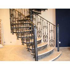 Кованая лестница КЛ 77