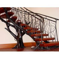 Кованая лестница КЛ 78