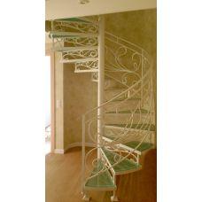 Кованая лестница КЛ 81