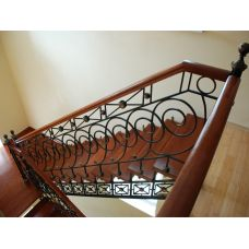 Кованая лестница КЛ 83
