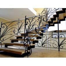 Кованая лестница КЛ 89