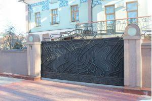 Кованые ворота Внешние кованные ворота