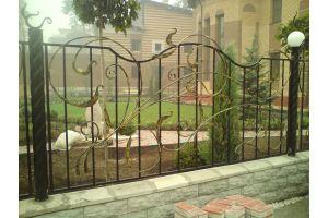 Кованые заборы Забор кованный без узора