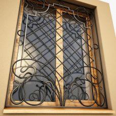 Кованая решетка на окно арт. 046180
