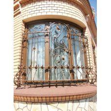 Кованая решетка на окно арт. 046183