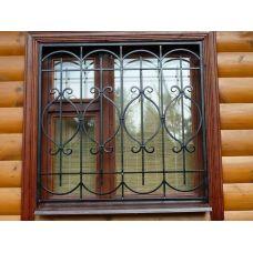 Кованая решетка на окно арт. 046189
