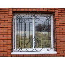Кованая решетка на окно арт. 046172