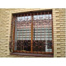 Кованая решетка на окно арт. 046199